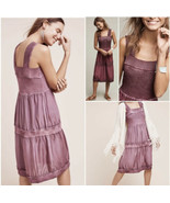 E By Eloise M Silk and Sweater Chemise Dress Slip Shift Purple Sleeveless - $54.45