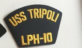 US Navy USS Tripoli LPH 10 Patch 3 X 4-1/2 #2457 - $11.69