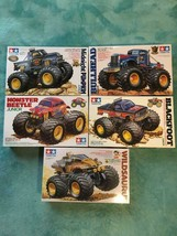 TAMIYA WILDSAURUS, MONSTER BEETLE, BLACKFOOT, BULLHEAD, Midnight Pumpkin... - $353.42