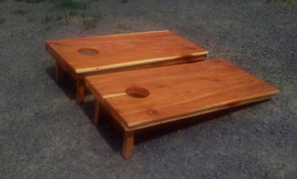 Red Cedar Rustic Matching Cornhole Board Set Regulation Size - $350.00
