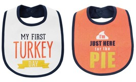 NEW Carter's Boys or Girls 1st Thanksgiving Turkey Day Bib Here for the Pie - $5.99