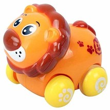 PANDA SUPERSTORE Set of 2 Lion Wind-up Car Toy for Baby/Toddler/Kids(Multicolor)
