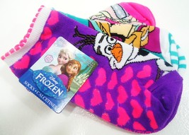 DISNEY - FROZEN - GIRL'S - (3) PACK - SOCKS - PURPLE - PINK - AQUA - BRA... - $4.49