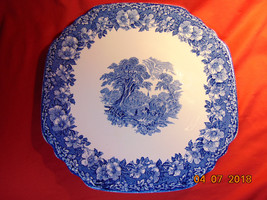 """11"""", Square Tray/Platter, from Enoch Wedgwood, in the Woodland Blue Pattern - $8.99"""