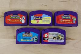 Lot of 5 Leap Pad Leapfrog Game Cartridges Shrek Monsters Reading Phonics Math - $12.73