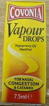 2 x Peppermint Oil and Menthol Nasal Congestion Catarrh breathing 7.5ml ... - $12.75