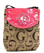 G Style Messenger Bag JACQUARD CROSSOVER Fuschia Purse Handbag Great 4 T... - $19.99
