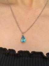 Lovely Vintage Blue Gemstone Pendant Necklace - €7,33 EUR