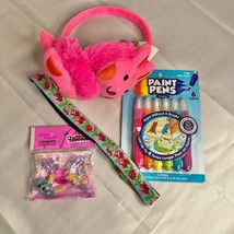 Easter Basket Bundle with Pink Bunny Earmuffs and More NEW (EG6) - $21.75