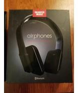New SHARPER IMAGE airphones HD WIRELESS HEADPHONES Bluetooth SBT556BK New - $40.38
