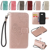 PU Leather Magnetic Flip Strap Wallet Folio Stand Case Cover for Samsung... - $8.70