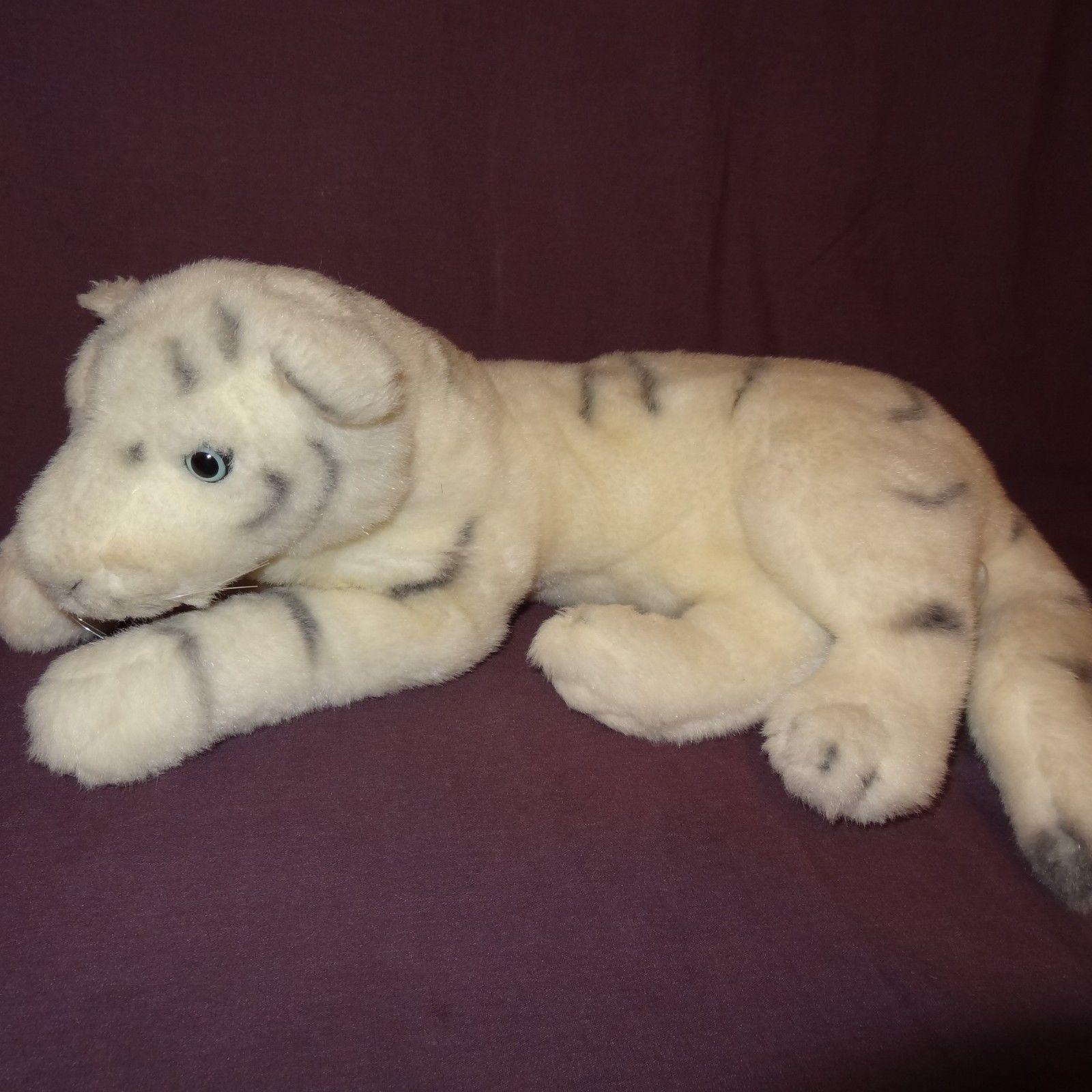 White Tiger Plush Stuffed Animal Laying 17 And 50 Similar Items
