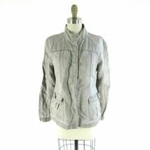 S - Eileen Fisher Womens Gray 100% Linen Button Front Lightweight Jacket... - $37.00