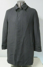 Mens J. Press Solid Gray Car Coat Size M Pure New Wool Fully Lined Singl... - $247.49