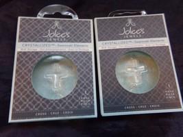 2 New in Package SWAROVSKI CRYSTAL ELEMENTS Pendant CROSS Jewelry Making... - $8.60