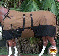 """84"""" Hilason 1200D Winter Waterproof Poly Horse Blanket Belly Wrap Copper U-L-84 - $84.99"""