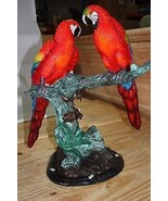 """Two Parrots on a tree - Bronze Statue -  Size: 20""""L x 12""""W x 23""""H. - $990.00"""