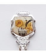 Collector Souvenir Spoon March Jonquil Daffodils Narcissus Flowers Floral - $4.99