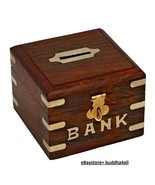 Handcrafted Wooden Square Money Bank Square bank box - $17.83