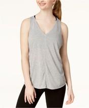 Calvin Klein Womens Vent Back Tank Top Pearl Grey Heather Size Medium -$28 -NWT - $5.30