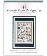 "Jeanette Crews Designs Cross Stitch Kit  ""Seashore Alphabet"" - $18.00"