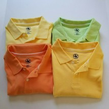 J Khaki Youth Size L Large Polo Shirt Lot Yellow Orange Green 3 New 1 Preowned  - $29.99
