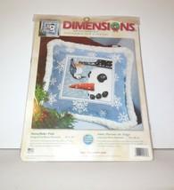 Dimensions Needlepoint new SNOWFLAKE PALS Pillow NIP #9138 Winter 12x12 (2006) - $40.00