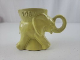 VTG 1987 Frankoma GOP YELLOW Elephant Political Party Mug Great For A Co... - $20.00