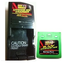 New Bright Combo 6.4 Volts Lithium ion Battery Pack Green & Charger for ... - $35.50