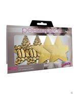 Peekaboo Pasties GLAM-O-RAMA STARS Gold 2 Pair - $14.99
