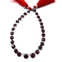31 Carat 5 to 6.5 MM Natural Ruby Smooth Heart Shape 9 Inch Beads - $53.99