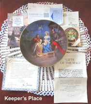 Bradford Exchange GIFTS OF THE MAGI 1st Issue Plate Hector Garrido COA B... - $10.00