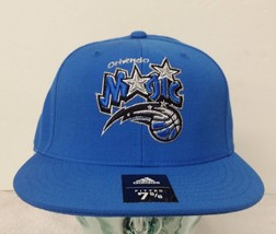 Orlando Magic Blue Color Men's Fitted 7 5/8 Adidas Flat Hat  (A) - $14.01