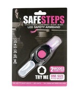 Safe Steps LED Light Jogging Walking Biking Arm Band Night Dark Safety 2... - £8.06 GBP