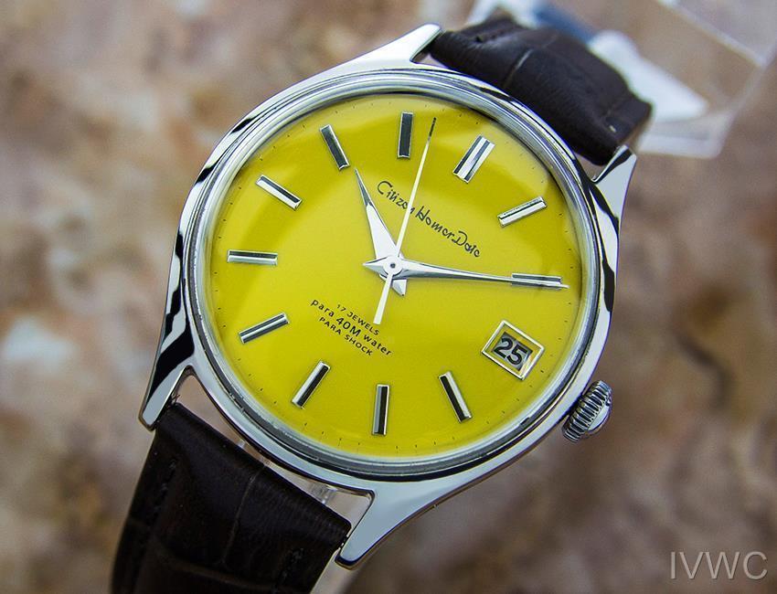 Citizen Homer Data Giapponese da Collezione Uomo Vintage Abito Watch c1960s B18