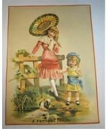Antique Victorian Trade Card Large 7x5 Grady's Boots, Shoes, Hats etc. C835 - $7.38