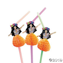 Hula Girl Plastic Straws - Less Than Perfect - €6,68 EUR