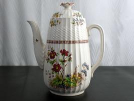 Copeland Spode Rosalie Coffee Pot & Lid, Vintage England, Chelsea Wicker... - $91.52