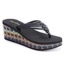 JUICY COUTURE Flip-Flops Braided Fashion Wedge ... - $29.99