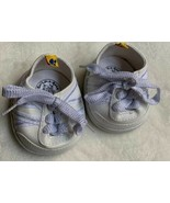 Build a Bear Workshop Sneakers 4/13 White Tennis Shoes Pre-owner Doll Dr... - $14.03