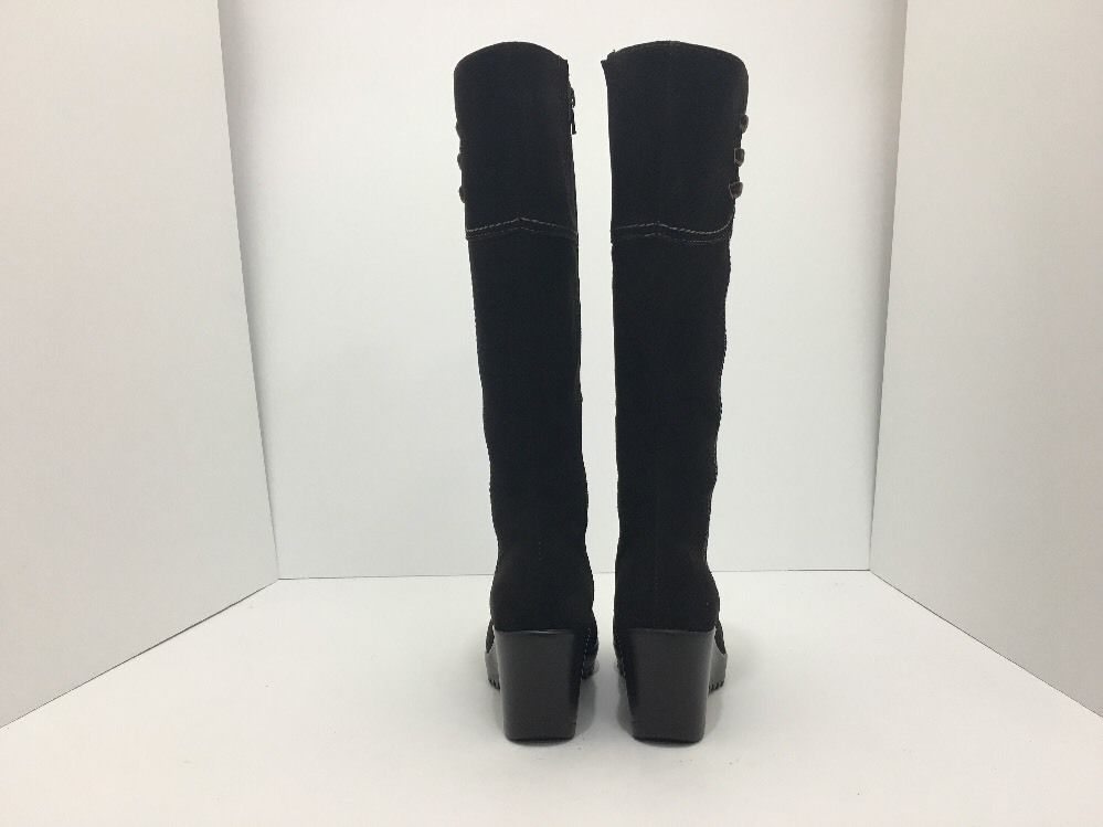 La Canadienne Galaxy Brown Suede Women's Knee High Platform Wedge Heel Boots 5 M image 4