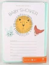 10ct Gartner Studios Mari Mi Baby Animals Neutral Baby Shower Invitation Cards  image 1
