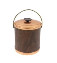 Vintage 60s Mid Century Modern MCM Copper Handled Ice Bucket Barware wit... - $59.35