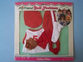 1982 Fisher Price My Friend 233 Baseball Outfit Shirt Leggings Cap Glove Nrfp - $28.71