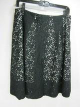 Talbots Women's Black Dressy Formal Paneled Skirt with Back Zipper Sz 10P - $19.79