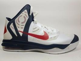 Nike Hyperaggressor Basketball Men's Shoes White Blue 524851 100 Sz 12 - $29.69
