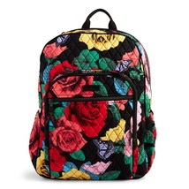 Vera Bradley Signature Cotton Campus Tech Backpack, Havana Rose