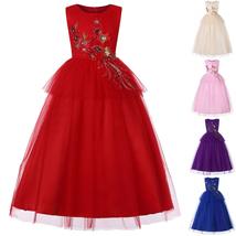 Long Flower Girl Dress Formal Birthday PerformTeens Party Gown Children ... - $33.99