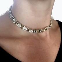 2p Rivière Victorian to Art Deco Paste Sterling silver Riviere necklace ... - $1,254.00