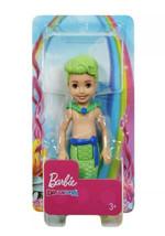 Barbie Dreamtopia Chelsea Merboy Green Hair Boy Green Mermaid Tail Doll - $12.86